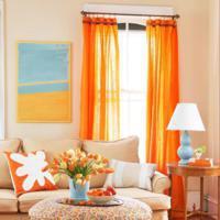 Oranje raamdecoratie